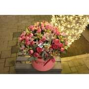 MİX FLOWERS LARGE BOX PİNK