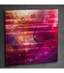 Canvas divar saatı rəngli