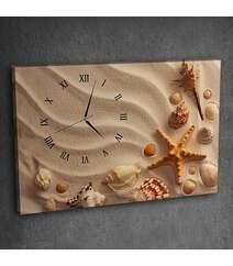 Canvas divar saatı dəniz şəkilli
