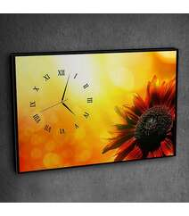 Canvas divar saatı günəbaxan şəkilli