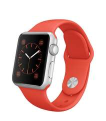 Apple Watch 38mm Silver Aluminum Case with Orange Sport Band MLCF2 Orange