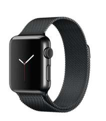 Apple Watch 38mm Space Black Stainless Steel Case with Space Black Milanese Loop MMFK2