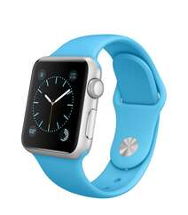 Apple Watch 38mm Silver Aluminum Case with Blue Sport Band MLCG2 Blue