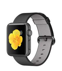 Apple Watch 38mm Space Gray Aluminum Case with Black Woven Nylon MMF62