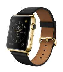 Apple Watch 42mm 24-Karat Gold Plated Case with Black Leather Classic Buckle Band