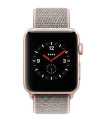 Apple Watch Series 3 GPS + Cellular 42mm Gold Aluminum Case with Pink Sand Sport Loop (MQK72)