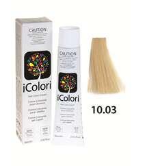 """İcolori professional saç boyası """"Platin sarışın"""" - № 10,03 90 ml"""