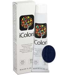 """İcolori professional saç boyası """"Qaralı - göy """" - № 1,10 90 ml"""