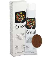 """İcolori professional saç boyası """"Qızılı-mis sarışın"""" - № 7,34 90 ml"""