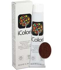 """İcolori professional saç boyası """"Sarışın qırmızı ağac"""" - № 7,5 90 ml"""