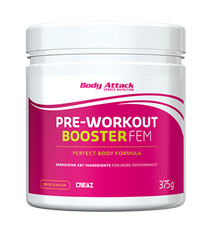 Body Attack Pre workout booster Fem 375gr lem