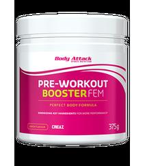 Body Attack Pre workout booster Fem 375gr lem
