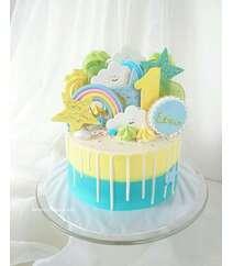 Торт на 1 год мальчику - 2 кг