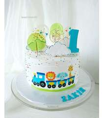 Торт по случаю дня рождения 1 год - 2 кг