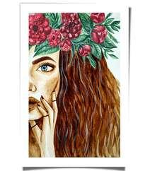 """Рисунок, нарисованный кофе """"Wreath"""""""