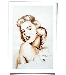 """Kofe ilə çəkilmiş rəsm """"Marilyn Monroe"""""""