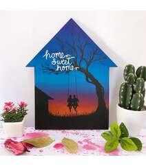 """""""Home Sweet Home"""" - Taxta üzərində əl işi rəsm"""