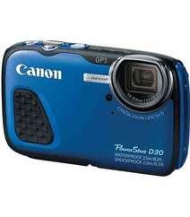CANON POWERSHOT D30 WATERPROOF DIGITAL CAMERA BLUE