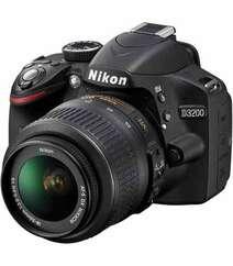 NIKON D3200 DIGITAL SLR CAMERA WITH AF-S DX NIKKOR 18-55MM F/3.5-5.6G VR LENS BLACK