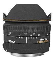 SIGMA 15MM F/2.8 EX DG DIAGONAL FISHEYE AUTOFOCUS LENS FOR CANON EOS