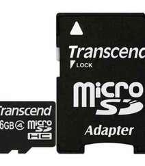 TRANSCEND 16GB MICROSDHC MEMORY CARD (CLASS 4) TS16GUSDHC4