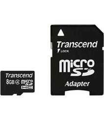 TRANSCEND 8GB MICROSDHC MEMORY CARD (CLASS 4) TS8GUSDHC4