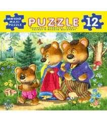 Три медведя. Мягкий Maxi Puzzle. 12 деталей