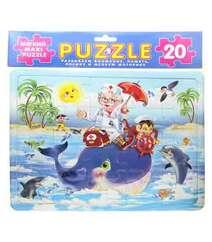Доктор Айболит на ките. Мягкий Maxi Puzzle. 20 деталей