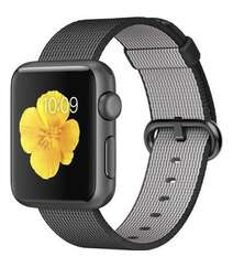 APPLE WATCH 42MM SPACE GRAY ALUMINUM CASE WITH BLACK WOVEN NYLON MMFR2