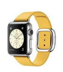 APPLE WATCH 38MM STAINLESS STEEL CASE WITH MARIGOLD MODERN BUCKLE (MMFG2) LARGE