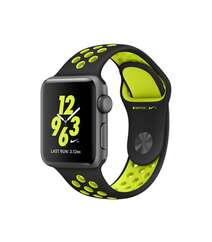 APPLE WATCH SERIES 2 38MM NIKE+ SPACE GRAY ALUMINUM CASE BLACK VOLT NIKE SPORT BAND MP082