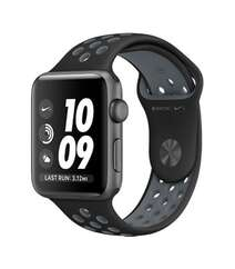 APPLE WATCH SERIES 2 42MM NIKE+ SPACE GRAY ALUMINUM CASE BLACK COOL GRAY SPORT BAND MNYY2