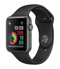 APPLE WATCH SERIES 2 42MM SPACE GRAY ALUMINUM CASE WITH BLACK SPORT BAND MP062