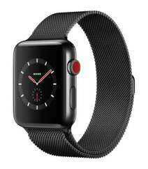 APPLE WATCH SERIES 3 GPS + CELLULAR 42MM SPACE BLACK STAINLESS STEEL CASE WITH SPACE BLACK MILANESE LOOP (MR1L2)