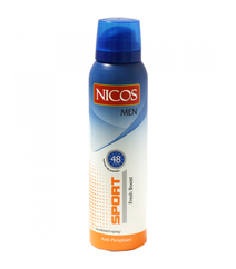 Nicos 150ml Antiperspirant Sport Men