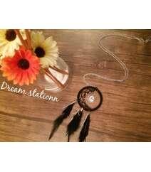 Ay formalı Dreamcatcher (yuxu ovçusu) kolye