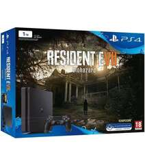 Sony PlayStation 4 Slim 1TB Black + Resident Evil 7: Biohazard Bundle
