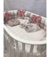 Комплект в круглю кроватку