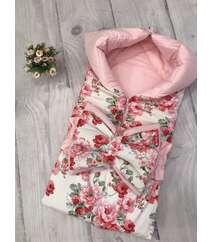 Конверт на выписку 100% хлопок Открывается в одеяло 85/85 см