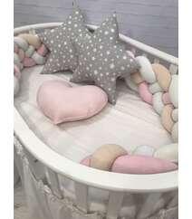 Декоративные подушки Бортик коса из 4 плетений на любой вид кроватки