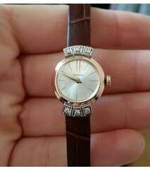 Briliant qaşlı qızıl saat