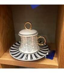 6 ədəd kofe üçün fincan və nəlbəki dəsti