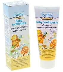 BabyLine Детская гелевая зубная паста со вкусом АПЕЛЬСИНА