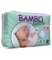 "Bambo Nature Подгузники детские одноразовые ""New Born"", 2-4 кг, 28 шт"