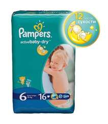 Pampers Подгузники Active Baby-Dry Extra Large