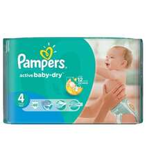 Pampers Подгузники Active Baby-Dry Maxi