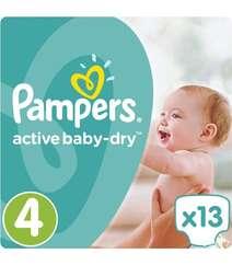 Подгузники Pampers Active Baby-Dry Размер 4 (Maxi) 8-14 кг, 13 шт