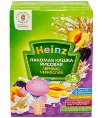 Каша без молока Для детей Рисовая HEINZ - Лакомая каша Курага, чернослив с 5 месяцев