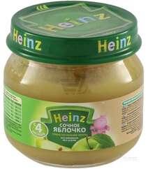 Фруктовое пюре Для детей HEINZ - Сочное яблочко с 4 месяцев 80грам