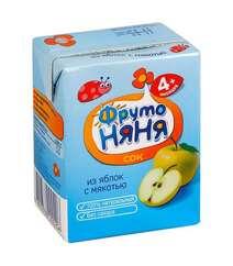 """Сок """"Фруто Няня"""" - Яблочный, с мякотью (с 4 мес.), 0.2 л"""